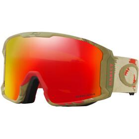 Oakley Line Miner Snow Goggle Razor Camo Red/Prizm Torch Iridium